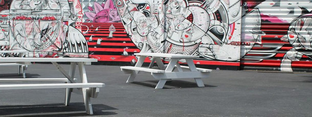 Wynwood wall and tables